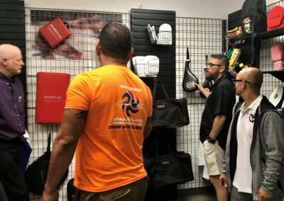 School owners checking out Macho gear